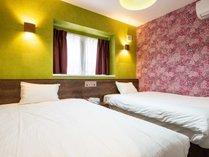 【スイート・トレーラーハウス】32平米 ゆったりツインベッドルームをご用意