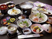 【料理バランスに富んだヘルシー月替わり会席料理の一例】