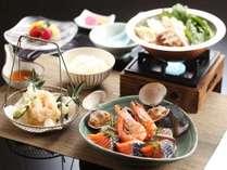 【和食レストラン】 「季節食材」 海鮮よせ鍋「ぽかぽか」プラン