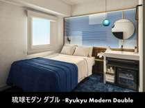 12平米の客室サイズに幅140cmのダブルベッド1台が備わった客室です。