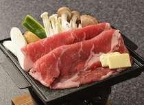 冬 旬彩会席 牛肉の陶板焼き