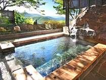絶景を望む貸切露天風呂