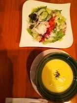レストラン ウイング  サラダ スープ
