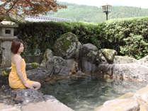 【露天風呂】九重の大自然に囲まれた癒しの露天風呂。登山の疲れも一気にとれます!