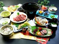 【豊後牛夕食】A4ランクを陶板で!アツアツをどうぞ♪郷土料理もご堪能ください。