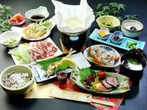【九重夢ポーク夕食】大分自慢のブランド豚をしゃぶしゃぶで♪郷土料理もご堪能ください。