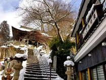 【冬の外観】雪景色も趣がありとても魅力的です☆