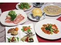 夕食(一例)四大豚の競演