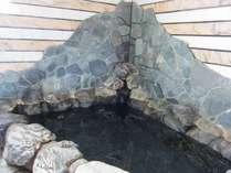 天然かけ流し温泉の岩風呂