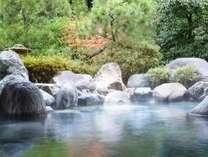 お風呂専用庭園を眺めながら・・・