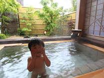 弱アルカリ温泉のため、赤ちゃんでも安心