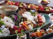 大橋名物料理「平目の焼霜造り」が味わえる【カップルプラン】