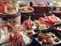 【活松葉蟹会席】冬一押しのプラン♪蟹と鳥取和牛など色々料理が楽しめる!