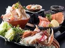 【かに三昧】「活蟹しゃぶ鍋」付の蟹会席!