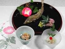 【夏・前菜一例】四季を思わせるお料理をご用意いたします。