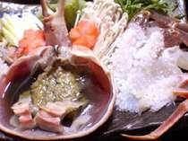 橋立港で水揚げされた「加能ガニの鍋」