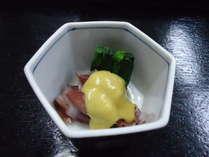【ホタルイカのからし味噌和え】様々なホタルイカ料理をご賞味あれ!