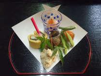 【お料理一例】旬の魚や加賀野菜など拘りの食材を使った磯料理です。