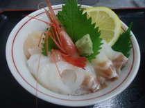 *新鮮な海の食材でおもてなしいたします。