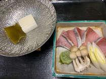 【夕食】旬のぶりをしゃぶしゃぶでお楽しみください!