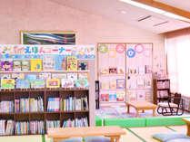 まんが図書館の絵本コーナーは1.000冊所蔵