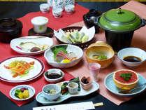 【会席料理(一例)】見た目も味も愉しめる会席。丹波篠山の魅力を。