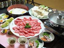 【丹波篠山牛のしゃぶしゃぶ一例】お野菜とお肉をしゃぶしゃぶ♪さっぱりと美味しく♪