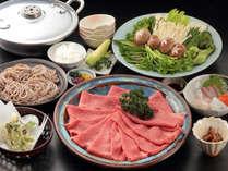 【春めぶきしゃぶしゃぶ(一例)】ご当地牛・丹波篠山牛と旬の山菜がコラボ♪