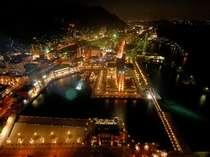 ★門司港展望台からの夜景★レトロのライトアップは夜の散歩にオススメです!