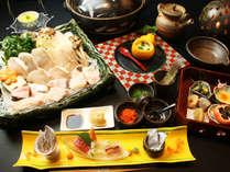 季節限定!!当館名物の天然本クエ料理,和歌山県,紀州の隠れ湯 栖原温泉