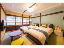 そら豆のお部屋~8畳の和室にベッドが2台。一番スタンダードなお部屋です