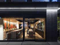 【外観・夜】おしゃれなcafe&bar祇園359が併設させています