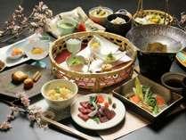 春のスタンダードプランお料理一例です。春の華やかな食材を使った料理をお召し上がりください。
