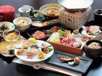 秋のスタンダードプランお料理一例です。秋の鮮やかな食材を使った料理をお召し上がりください。