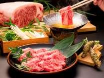 信州和牛のしゃぶしゃぶは、肉本来の甘さと旨味を存分にお楽しみいただけます。