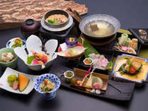 *2019年春【小樽浪漫御膳(一例)】/素材を存分に…春の野菜を入れた鯛しゃぶ鍋をご堪能!