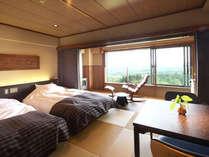 【和モダンツイン(37.5平米)】シモンズベッド使用。琉球畳+板の間。MIKIMOTOコスメ付。Wi-Fi対応。