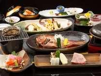 【特別味覚会席】豪華3大味覚「金目鯛・鮑・A5飛騨牛」使用の会席 ※料理イメージ