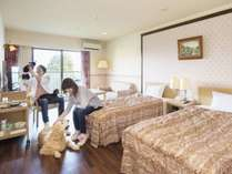 全客室わんちゃんOK!2頭目から宿泊料半額♪小型犬~超大型犬までお泊りいただけます。