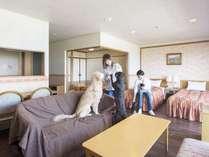 【最上階特別和洋室】広さ55平米なので多頭利用にも◎!最上階8階で景色も◎!
