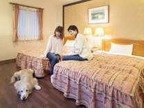 【ロイヤルスイート】ベッドルーム(和洋室)