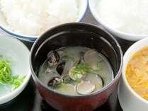 【朝食】松江名物!しんじ湖大和しじみのお味噌汁♪