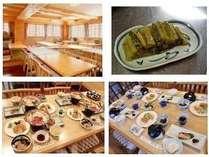 食堂・食事の一例・野沢菜の漬物