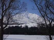 冬の利尻富士はまた神秘的で美しいです。