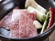 美味しい飛騨牛の陶板焼きを塩ポン酢で!