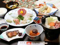 季節の食材を使い、旬の味を楽しめるよう真心こめてつくる料理をお楽しみください