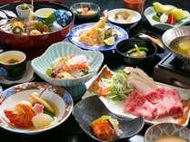 【九州ありがとうキャンペーン】<スタンダード>佐伯の新鮮魚介ととろける黒毛和牛しゃぶしゃぶ懐石