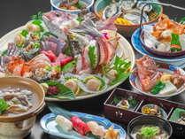 【魚尽くし!新鮮魚介の姿造り付】魚好きには堪らない魚尽くしのフルコース!
