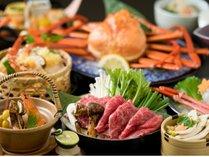 【松茸&紅ずわいがに会席】秋の味覚!松茸と紅ずわいがにの豪華共演☆