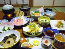 *季節に応じた旬の味をお楽しみください。(夕食一例)